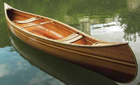 Canoe canadien bois